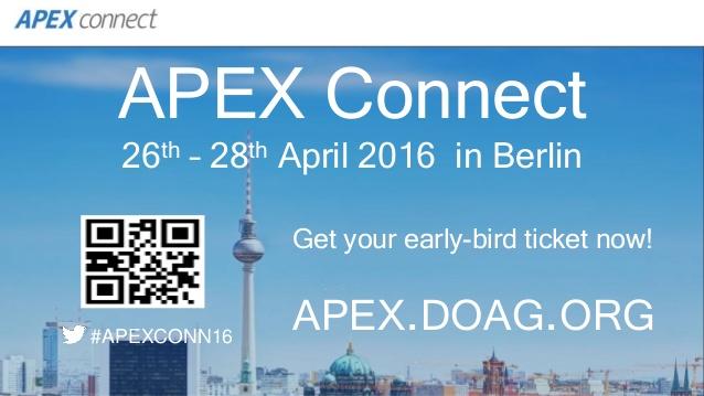 APEX Connect 2016